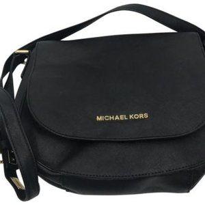 Michael Kors Black Saffiano Leather CrossBody Bag
